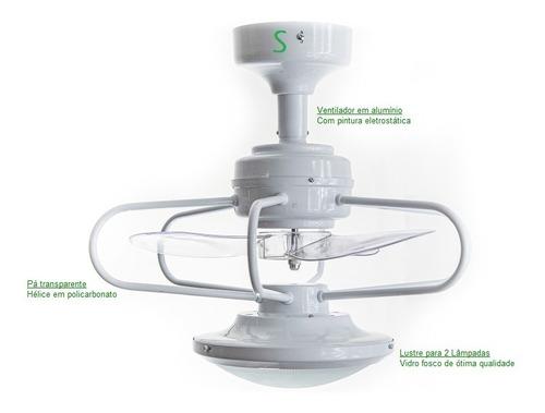 ventilador de teto potente e silencioso 8056 c/dimer bivolt