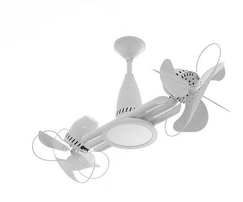 ventilador de teto ventisilva duo branco gira 360º c/ lampad
