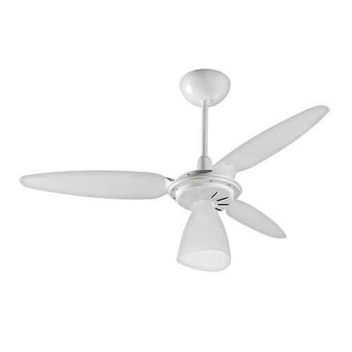 ventilador de teto wind light - ventisol - branco/mogno