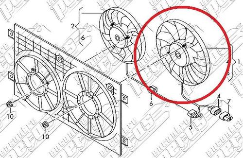 ventilador do radiador audi a3 2.0 fsi 2003 a 2015 original
