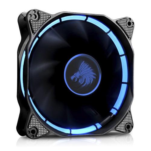 ventilador eagle warrior halo led azul 120mm para gabinete