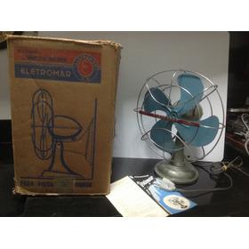 Ventilador Eletromar Antigo Com Caixa Original E  Manual