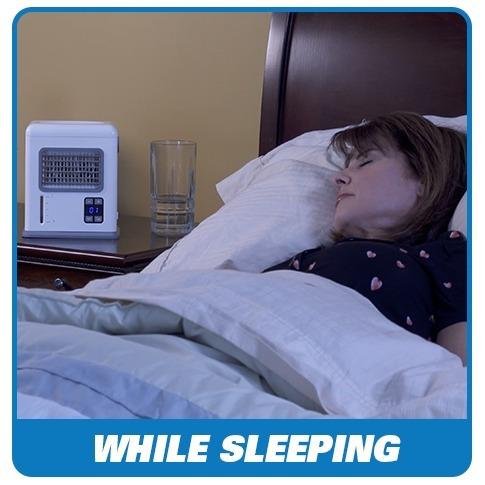 ventilador enfriador clima portátil purificador blu breeze