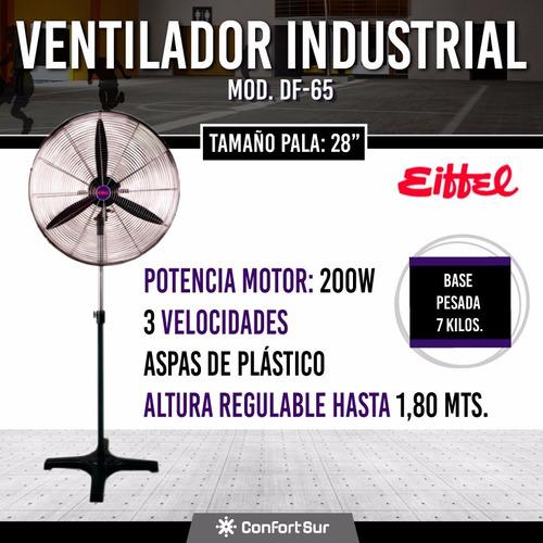 ventilador industrial eiffel 28'' base hierro 200w df65 **10