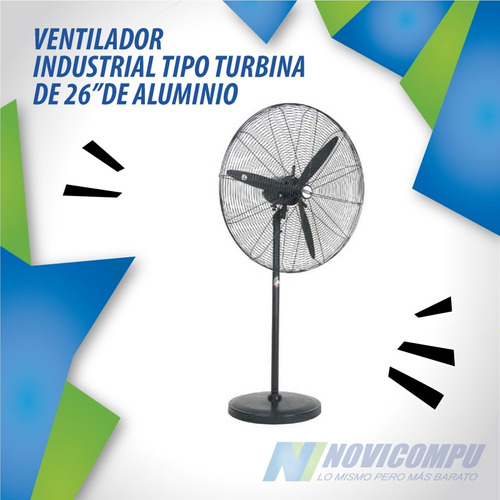 ventilador industrial tipo turbina de 26  de aluminio