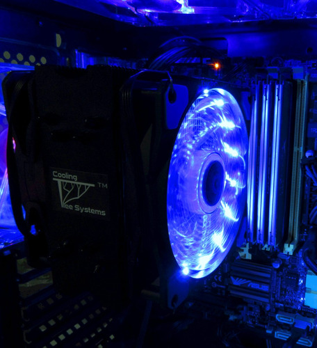 ventilador led cts blue vortex alto flujo 120mm pc gamer pwm