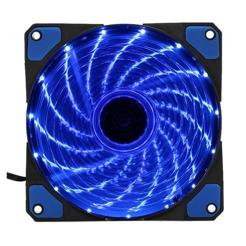ventilador led pc 120mm gomas antivibracion