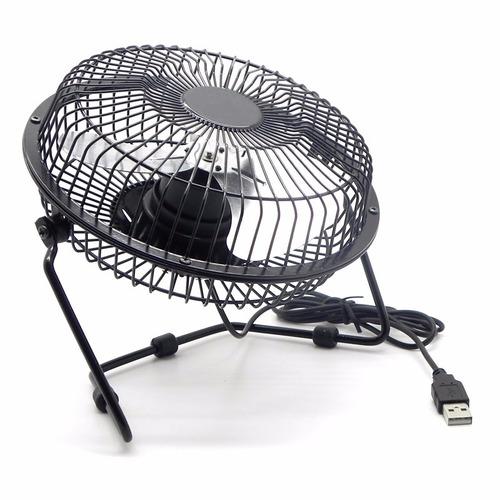 ventilador mini usb mesa computador mac y pc metálico