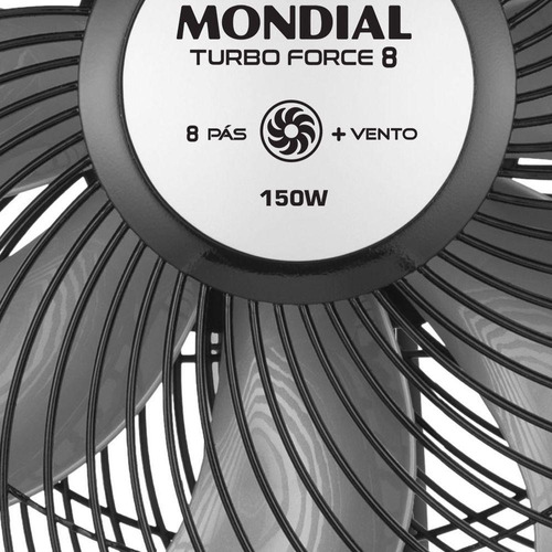 ventilador mondial nvt-50 turbo 50cm 3 velocidades 8 pás