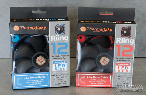 ventilador p c gamer thermaltake riing 12 led red blue 120mm