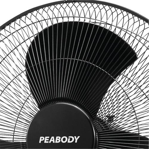 ventilador peabody de pie 20  altura regulable 3 turbo 60w