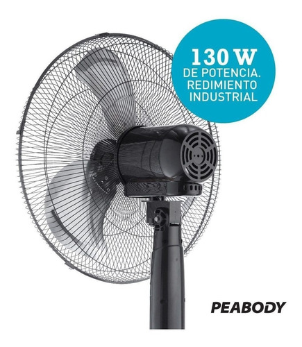 ventilador peabody pe-vp350 pie 20 3v ctrol remoto 130w