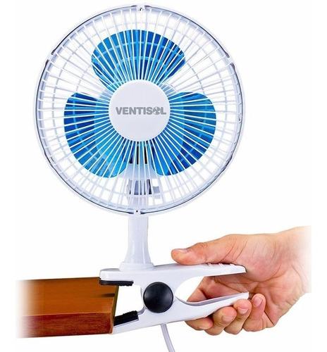 ventilador personal mesa y/o pinza ,2 en 1,  20 cm  ventisol