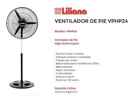 ventilador pie 24  vphp24 liliana