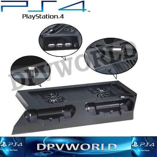 ventilador playstation 4 + cargador control ps4 dual shock