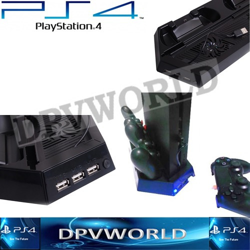 ventilador playstation 4 ps4 slim vertical cargador control