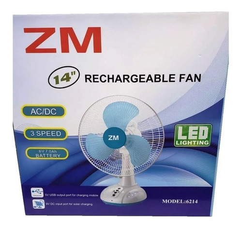 ventilador recargable 14   zm