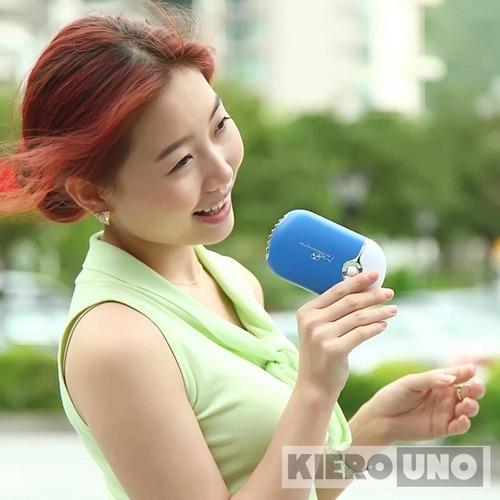ventilador secador uñas pestañas usb portatil recargable