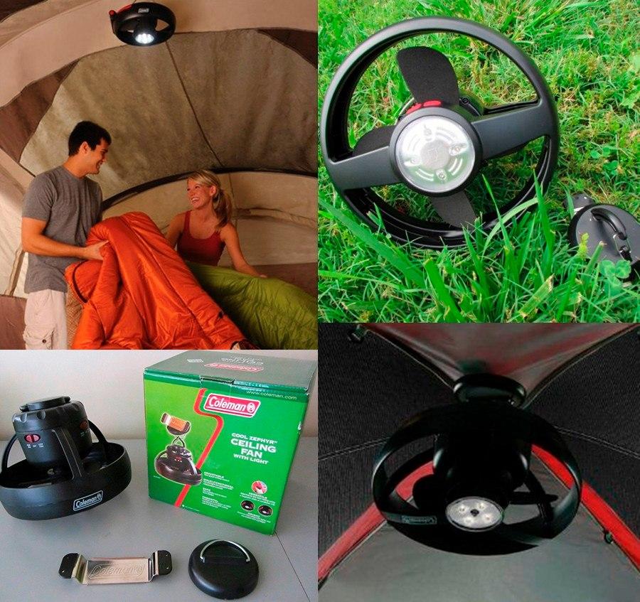 Ventilador Techo Carpas Coleman Con Luz Led Pilas Camping - $ 1.024 ...