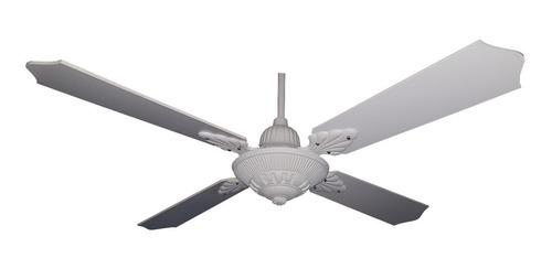 ventilador techo fundición blanco palas laqueadas 18 cuotas
