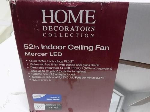ventilador techo home decorator's mercer 52  koa distressed