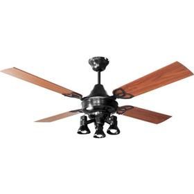 Ventilador Techo Martin & Martin Ocean Negro Con Luz Ruka X3, Palas Madera O Metal, Motor Potenciado, Garantia