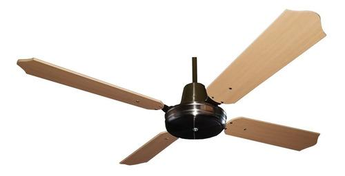 ventilador techo plateado con palas madera haya 18 cuotas