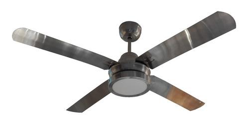 ventilador techo plateado con palas metálicas sese 18 cuotas