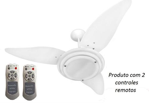 ventilador teto astro branco com 2 controles remotos speed