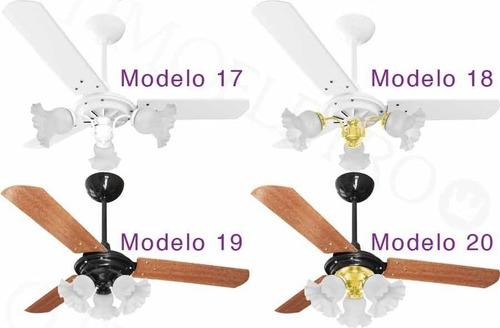ventilador teto tulipa 27 opções de cores + controle remoto!