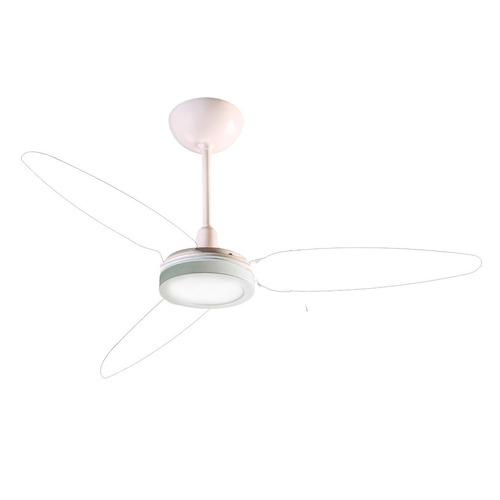 ventilador teto wind light cristal luminária plafon led 18w