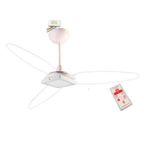 ventilador teto wind light cristal plafon led 18w + controle