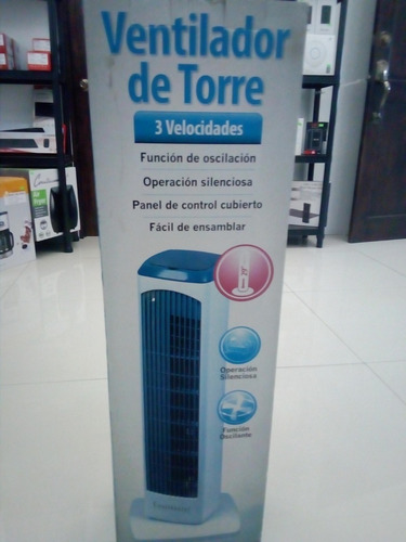 ventilador torre 29  continental electric blanco ce29631