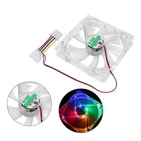Ventilador Transparente 120mm Led 4 Colores Fijos