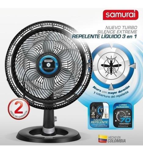 ventilador turbo silence extreme samurai 3en1 repel liqui s