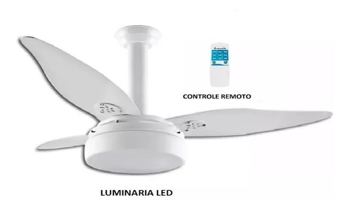 ventilador urânio lorensid  luminária led controle remoto