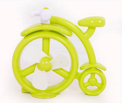ventilador usb portátil forma bicicleta con switch on/off