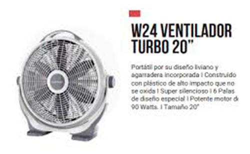 ventilador winco w24 turbo de piso silencioso 20 pulgada 90w