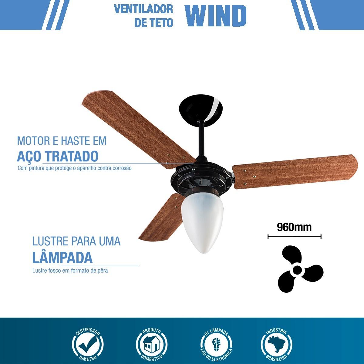 599d3d6bb ventilador wind preto 3p mogno cv3 127v ventisol premium. Carregando zoom.