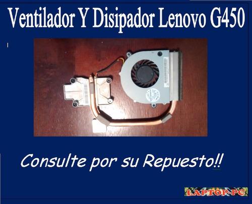 ventilador y disipador lenovo g450