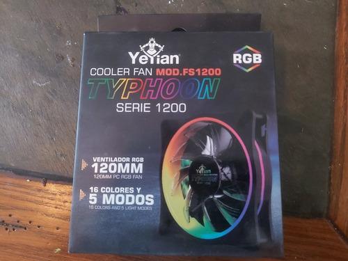 ventilador yeyian typhoon de 120mm rgb