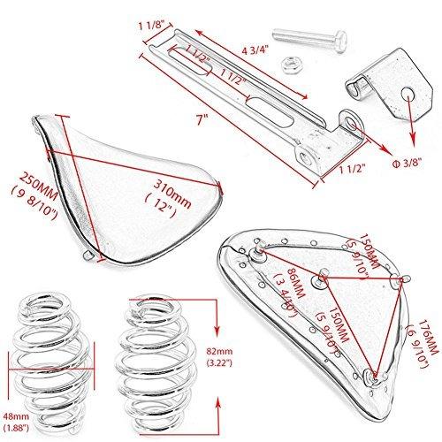 ventiladores de motocicleta soporte de cuero de t-barra de