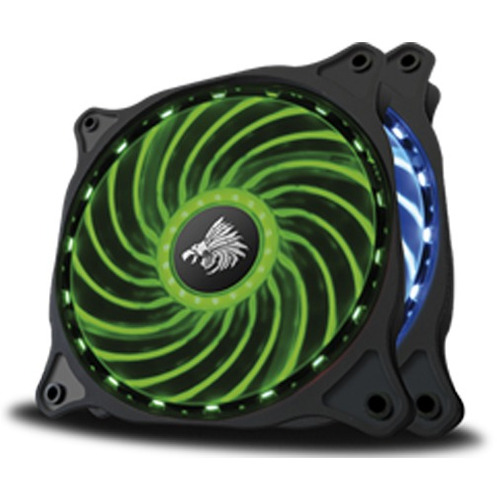 ventiladores rgb p/gabinete eagle warrior con tira led pack