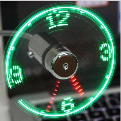 ventiladores usb tipo reloj sin base x 5 und