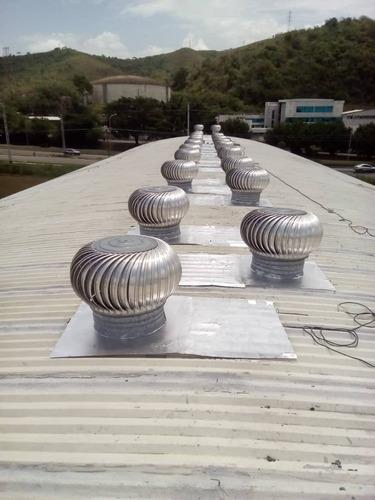 ventiladores y extractores aire industriales, turbinas aspas
