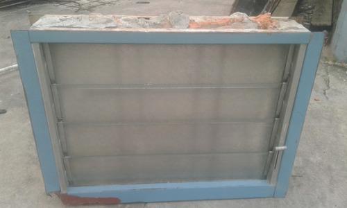 ventiluz chapa 65 x 49 cm con reja y mosquitero