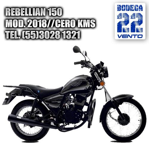 vento rebellian 150cc 2019 nueva 0kms placas y casco gratis