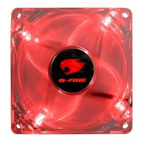 Ventoinha Fan 80mm Led Vermelho Ew0408e- G-fire + Nf