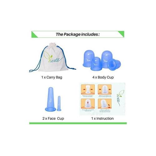 ventosas de vacío kestie anticellulite - silicona hipoalergé