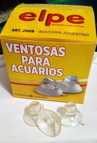 ventosas sopapas clasicas elpe para peceras acuarios x 10 un